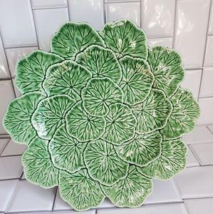 BORDALLO PINHEIRO PORTUGAL 'Cabbage' Oval Platter
